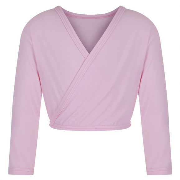 Junior Pink Wrap Cardigan
